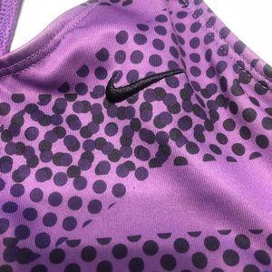 Nike Tops - NIKE dri fit racerback tank built in bra purple L